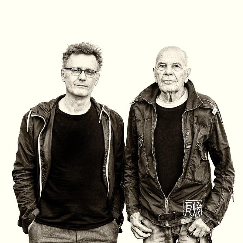 Photo von Uwe Oberg und Heinz Sauer von Frank Schindelbeck