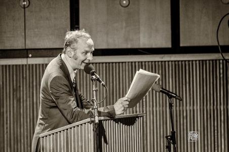 Rudi Mahall, Speech at SWR Jazzpreis 2014 - Photo Schindelbeck