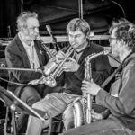 Rudi Mahall, Valentin Garvie, Pierre Morel - Sebastian Gramss - States of Play - Photo: Schindelbeck